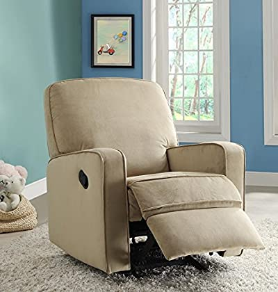 Pulaski Sutton Swivel Glider Recliner Zen Grey With Stella Piping
