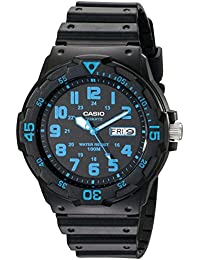Unisex MRW200H-2BV Neo-Display Black Watch with Resin Band