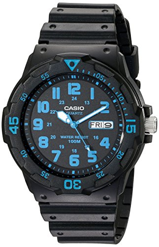 Casio Unisex MRW200H-2BV Neo-Display Black Watch with Resin Band (Band Bezel Wrist Watch)