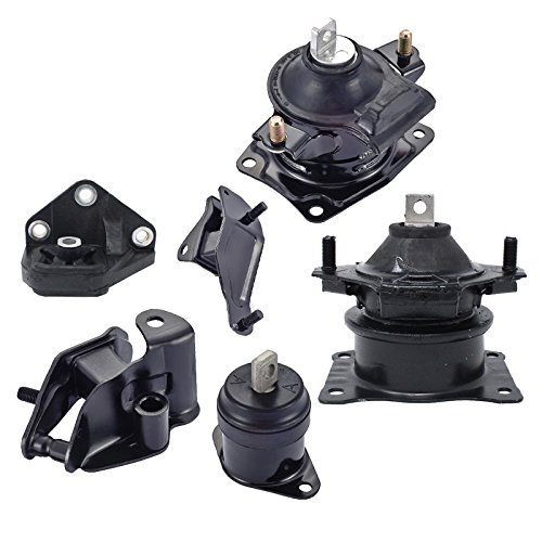 Engine Motor and Trans Mount Set of 6 for 2003-2007 Honda Accord 2.4L Compatible with Automatic ()