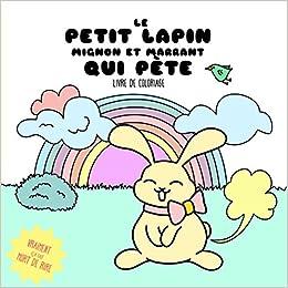 Coloriage Kawaii Lapin.Le Petit Lapin Mignon Et Marrant Qui Pete Livre De