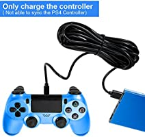 Amazon.com: zacro driver de PS4 Cable de carga, Cargador de ...