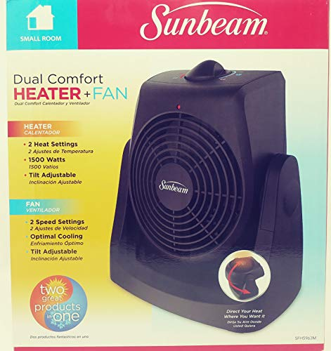 Sunbeam Dual Comfort Heater and Fan - Black
