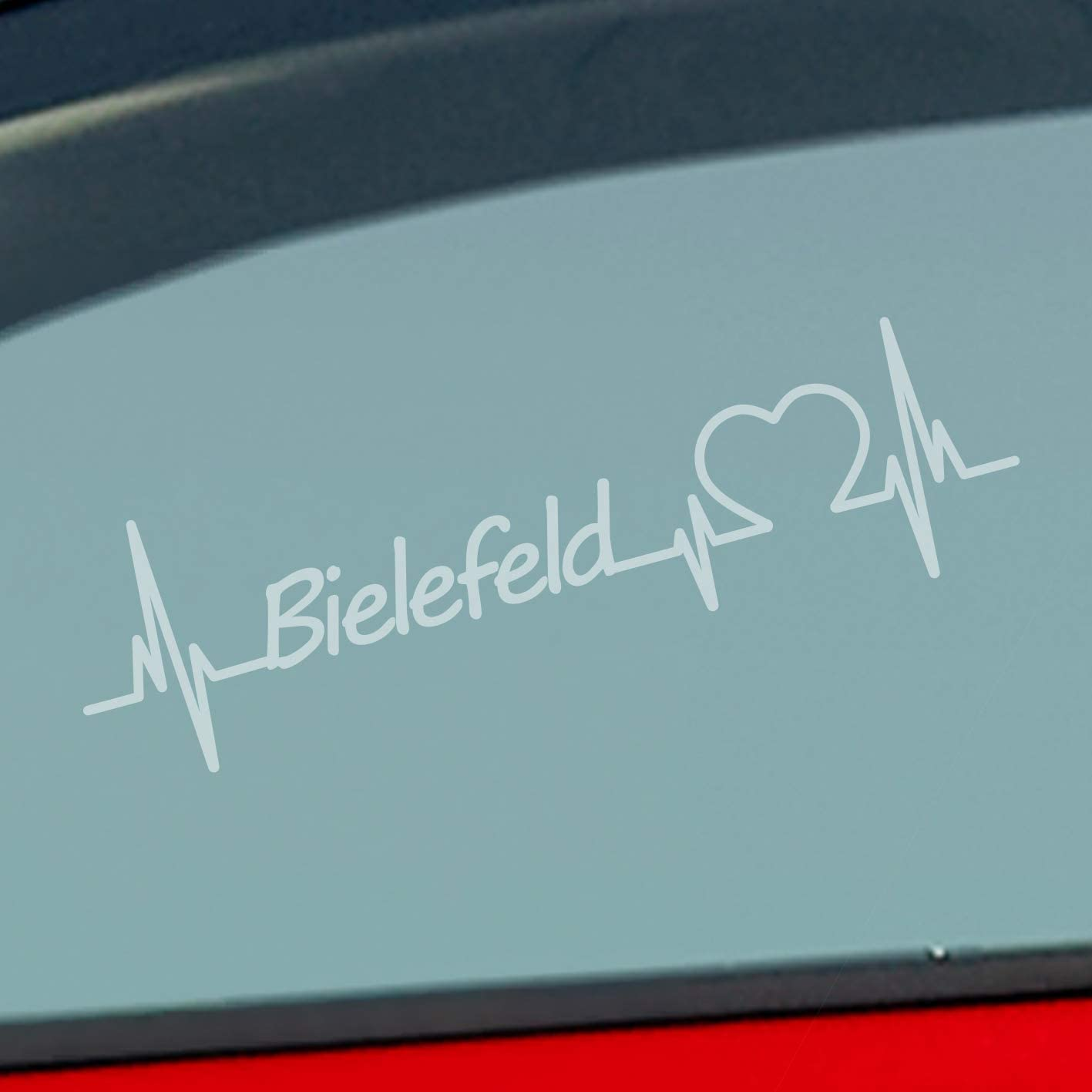 Auto Aufkleber In Deiner Wunschfarbe Bielefeld Herz Puls Stadt City Sticker Liebe Love Ca 19 X 5 Cm Autoaufkleber Sticker Auto