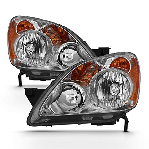 - [Halogen Style] Headlights For 2005-2006 Honda CR-V CRV 4DR Driver Left+Passenger Right Side Pair Replacement