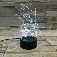 WoloShop Lampara LED Dragon Ball Goku Kid Cambia