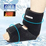 Ankle & Foot Gel Ice Pack/Ice Wrap Compression by ARRIS, Best for Sprained Ankle, Achilles Tendon Injuries, Plantar Fasciitis, Bursitis & Sore Feet - Hot & Cold Gel Wrap for Ankle Feet Pain Relieve