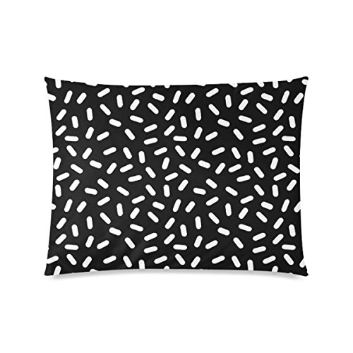 Custom Bingo Black And White Personalized Pillowcases Zippered Pillow Covers 20 by 26 Inches Two Sides]()