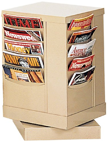 Durham 409-54 Putty Cold Rolled Steel 20 Pocket Rotary Literature Rack, 14-1/8