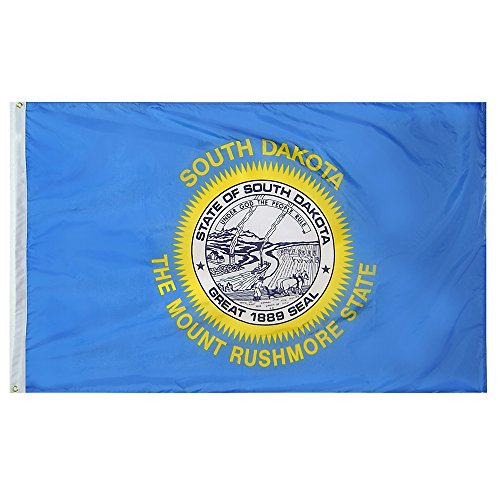 2 x 3 South Dakota State Flag - Nylon - 100% American Made