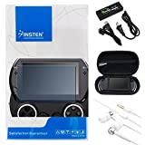Insten AC Charger + BK EVA Case + LCD Protector + headset Compatible With PSP go