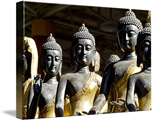 Wall Art Print entitled China, Beijing,Thai Buddha Sculptures by Design Pics by Imagekind