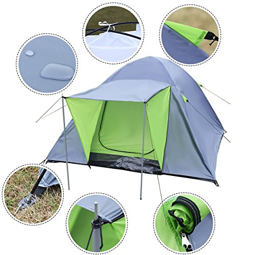 Costway 3-4 Person Outdoor Tent Waterproof Double Layer Portable Dome...