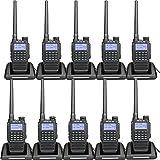 Retevis RT87 Waterproof Walkie Talkie Long Range VHF UHF IP67 Hands Free Scrambler FM Emergency 2 Way Radios with Super Clear Audio(10 Pack)