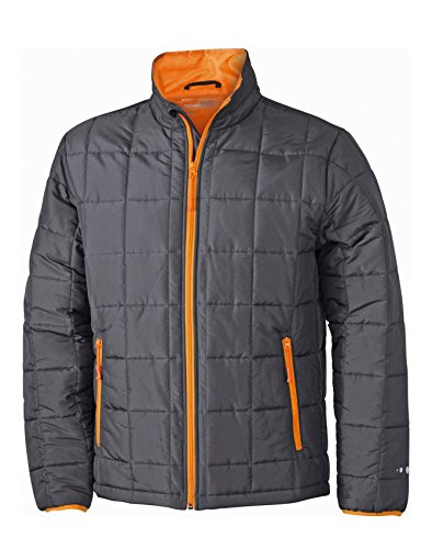 Carbon Uomo Imbottito Jacket Caldo Con Thinsulate™ Giaccone Weight Men's Light orange Padded ZR5wqn