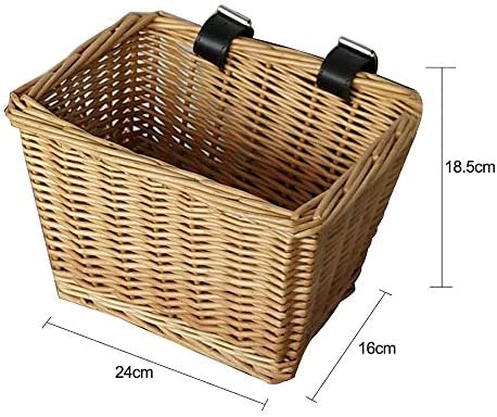 自転車バスケット子供バックパック三輪車スクーター用品キッズ人工織ウィッカーバスケット