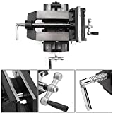 Drill Press Vise, 6'' Cross Slide Drill Press Vise Clamp Metal Milling Vice Holder Clamping Bench Mount Heavy Duty Machine Shop Tools