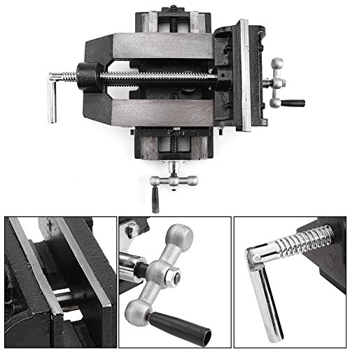 "6"" Cross Slide Drill Press Vise Metal Milling Vice Holder Clamping Bench Mount Popular New"