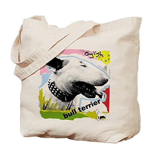 CafePress–Inglese Bull Terrier Tela Naturale Punk–Panno–Borsa, borsa della spesa