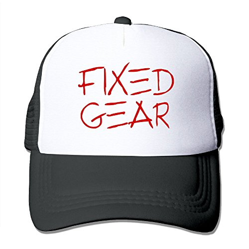 Price comparison product image Anraglan Classic Fixed Gear Unisex Baseball Trucker Hats Cap Black