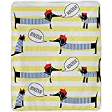 ALIREA Dogs Cats Stripes Super Soft Warm Blanket Lightweight Throw Blankets for Bed Couch Sofa Trave