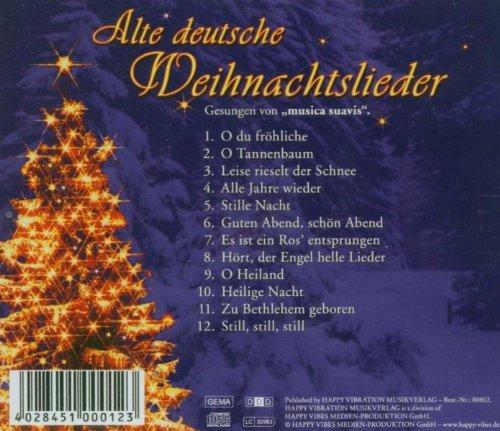 Alte Weihnachtslieder Deutsch.Alte Deutsche Weihnachtslieder Musica Suavis Volkslieder Amazon