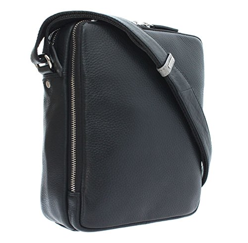 Black Kr72 Leather Travel Reporter Tiger Grain Soft Bag Visconti Pebbled qgpz8z
