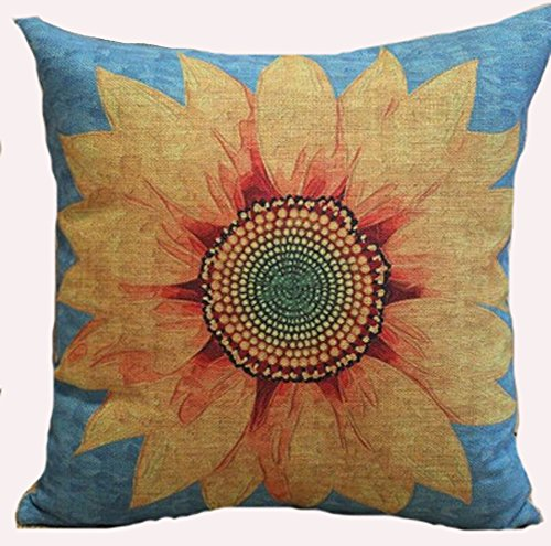 Sunflower Yelow Flowers Pillow Case