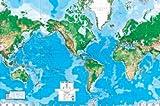 best world map wall murals (99x164) World Map Huge Wall Mural Art