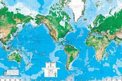 (99x164) World Map Huge Wall Mural Art