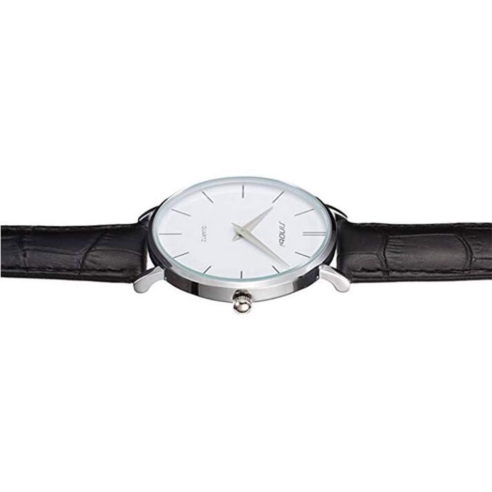 Amazon.com: SINOBI Sport Ultrathin Leather Men Watches, Casual Quartz Simple Dial Minimalism Women reloj de pulsera: Watches
