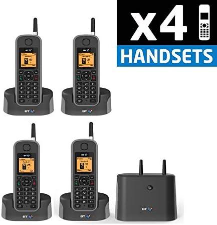 BT elementos 1 K Quad Pack teléfono inalámbrico DECT con construido en Contestador automático: Amazon.es: Electrónica