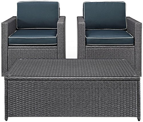 Crosley KO70043WG-NV Palm Harbor 3-Piece Wicker Set