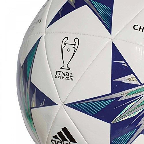 adidas Finale Kiev Balón de Fútbol, Hombre white/black/unity ink/hi-res green s18