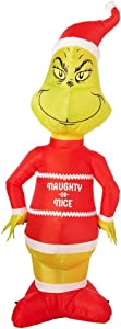 The Grinch Inflatable Decoration 5.5ft - Naughty or Nice