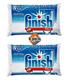 Finish Dishwasher Water Softener Salt for Bosch Dishwasher 6-Pack 8.8 Lbs