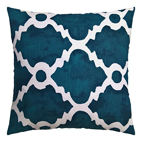 JinStyles Moroccan Tile Cotton Canvas Decorative Throw Pillo