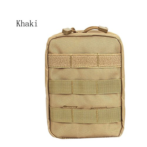 Tactical Molle Emt Medical First Aid Ifak Blowout Utility Pouch Belt Waist Bag With Cell Phone Holster Holder  Khaki