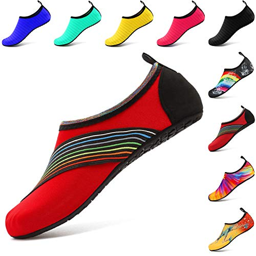 Hombre De Aqua Vifuur Yoga Agua Para Zapatos Mujer Rojo Xidai 0Rawq5a4