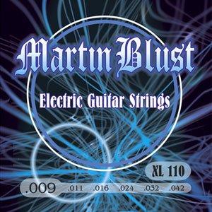 Juego de cuerdas de guitarra eléctrica de Martin Blust, 009 - 042, - luz Extra - XL110: Amazon.es: Instrumentos musicales