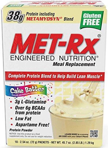 MET-Rx - Supplément de protéines en poudre, pâte à gâteau, 2,54 once 18-Count Box