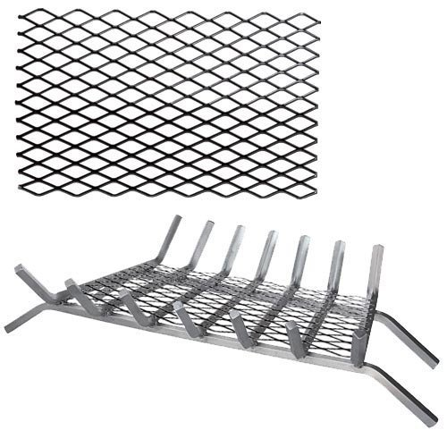 Black Steel Retainer Ember for Grates - 20 x 10 inch by Dagan Industries, Inc
