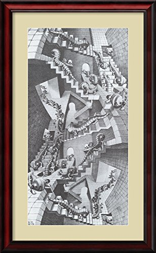 House of Stairs by M. C. Escher Framed