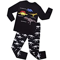 shelry Boys Dinosaurs Pajamas Kids Cotton PJs Children Sleepwear Toddler Clothes