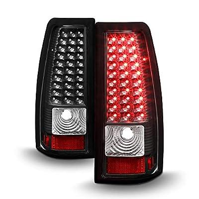 ACANII - For Black 1999-2002 Silverado 99-03 Sierra LED Tail Lights Brake Lamps Left+Right