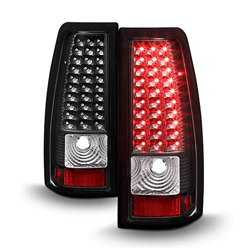 (ACANII - For Black 1999-2002 Silverado 99-03 Sierra LED Tail Lights Brake Lamps Left+Right)