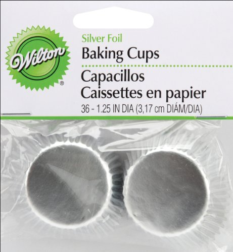 Mini Baking Cups-Silver Foil 36/Pkg - Wilton-Mini Baking Cups. Mini Cupcakes And Muffins Get All Dressed Up In These Fun And Festive Baking Cups! They'Re Also Ideal For Holding Candy And Nuts. This P