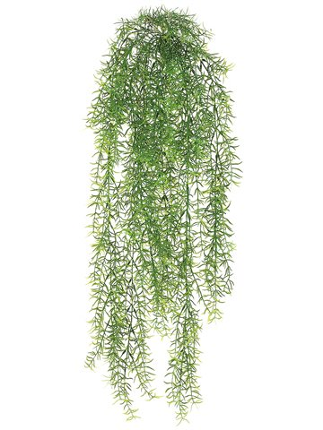 30'' Sprengeri Fern Artificial Hanging Plant -Green (case of 12) by SilksAreForever