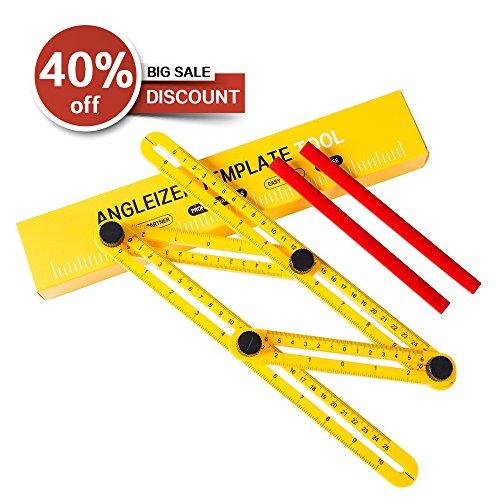 AGOO Angle Ruler, Angle Finder, Template Tool & Layout Tool, Multi-Angle Measuring Ruler Measuring All Angles and Forms