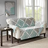 Madison Park Claire Printed Loveseat Protector Aqua Loveseat